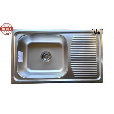 Кухонная мойка с нержавеющей стали Galati Amina Satin матовая (3425)