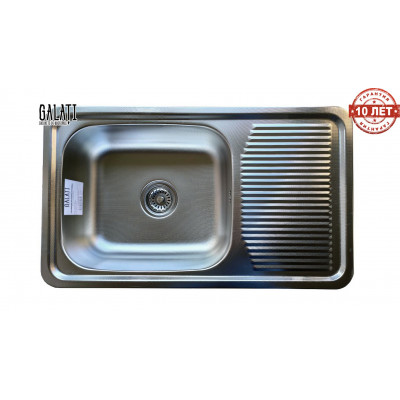Кухонная мойка с нержавеющей стали Galati Amina Textura декор (3424)