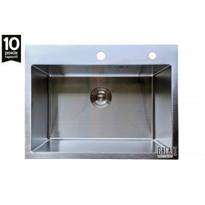 Кухонная мойка с нержавеющей стали Galati Arta U-550 матовая под столешницу (3420)