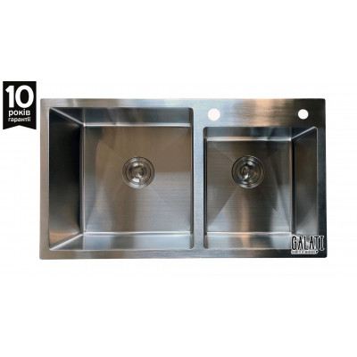 Кухонная мойка с нержавеющей стали Galati Arta U-750 матовая под столешницу (3422)