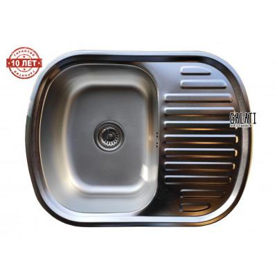 Кухонная мойка с нержавеющей стали Galati Vayorika 1.0A Satin матовая (3426)